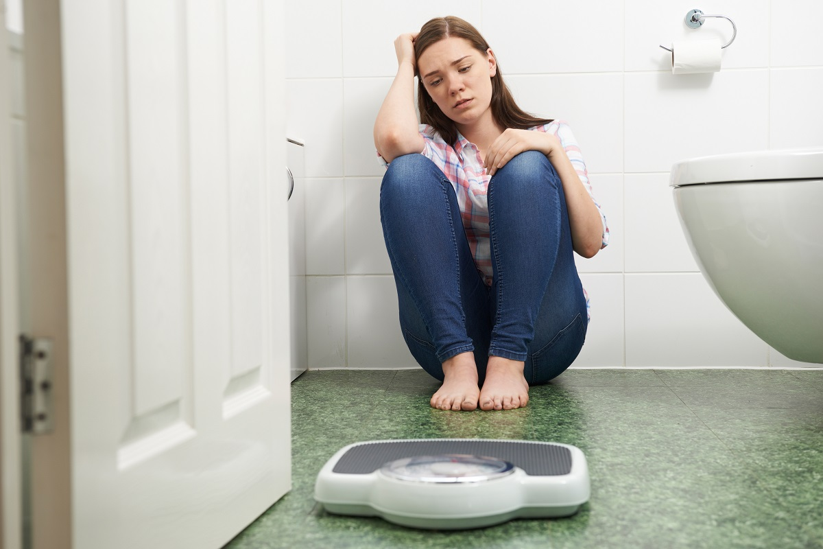 Woman concern about weight